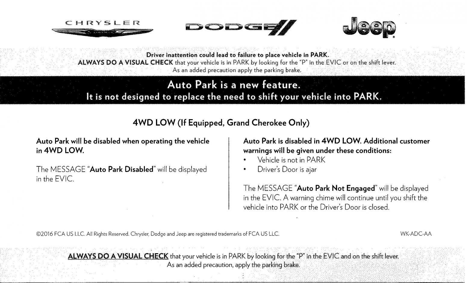 Auto-Park Software Fix (re '12-'14 models) | Chrysler 300C & SRT8 Forums