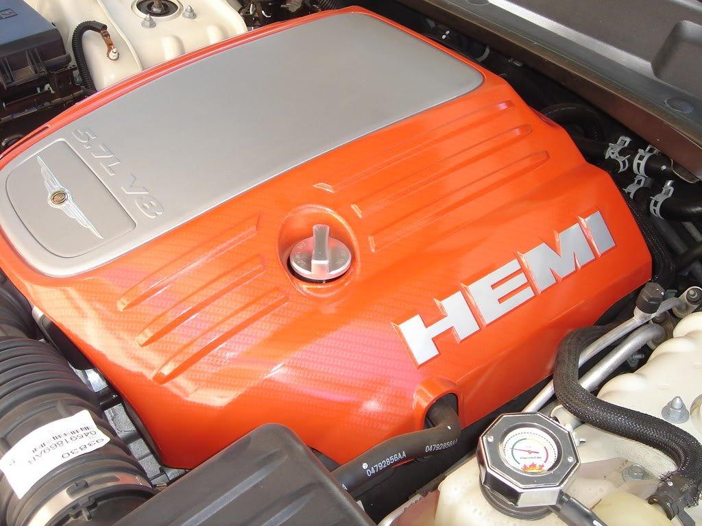 F/S: 5.7 OEM MOPAR Hemi Orange Engine Cover - Chrysler ...