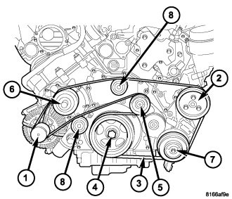 Chrysler 300 Serpentine Belt Diagram