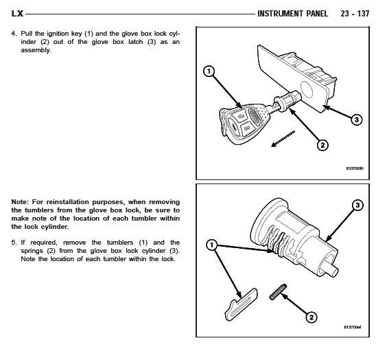 Manual 2006 Chrysler 300 Roof Removal: Help!!!!!!!!! With Glove Box (Moved)