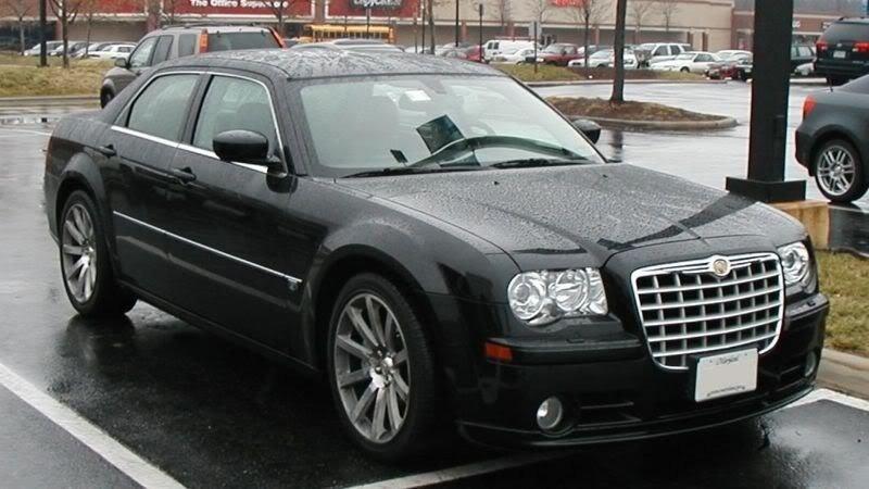 Chrysler 300 srt8 black chrome wheels