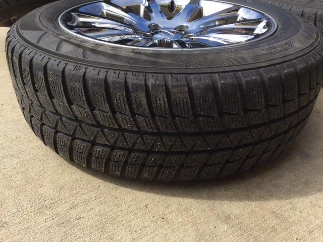 f s chrome clad 18 rims w falken hs449 eurowinter tires. Black Bedroom Furniture Sets. Home Design Ideas