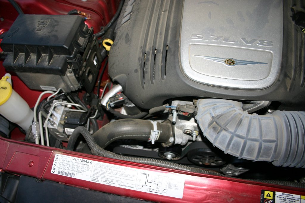 D Thermostat Laybor Cost Img on 2006 Chrysler 300 Thermostat Location