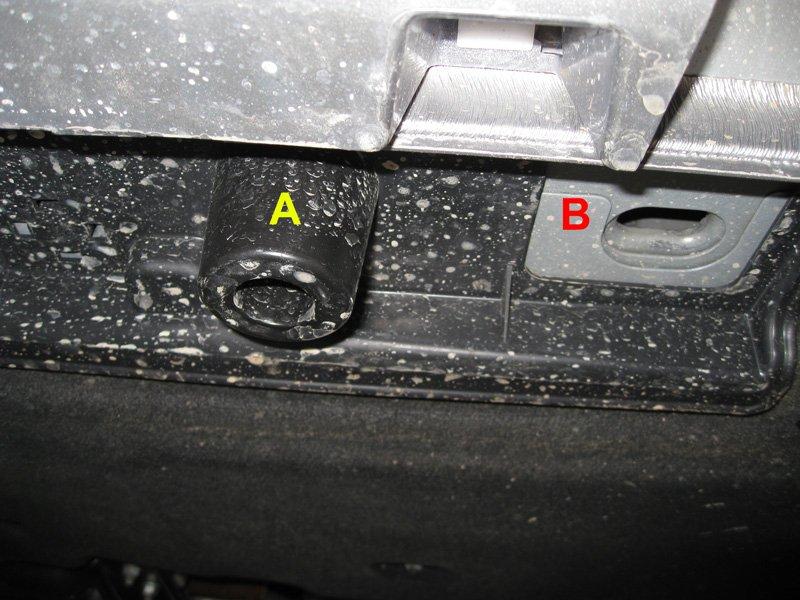 Rear lifting point for floor jack - Chrysler 300C Forum: 300C ...