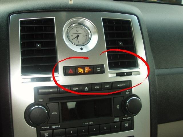 Chrysler 300c passenger airbag