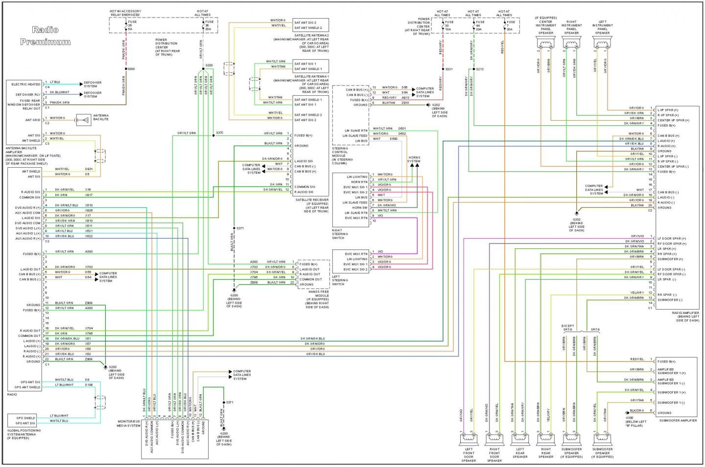 chrysler 300c radio wiring diagram 2005 chrysler 300 radio wiring diagram #8