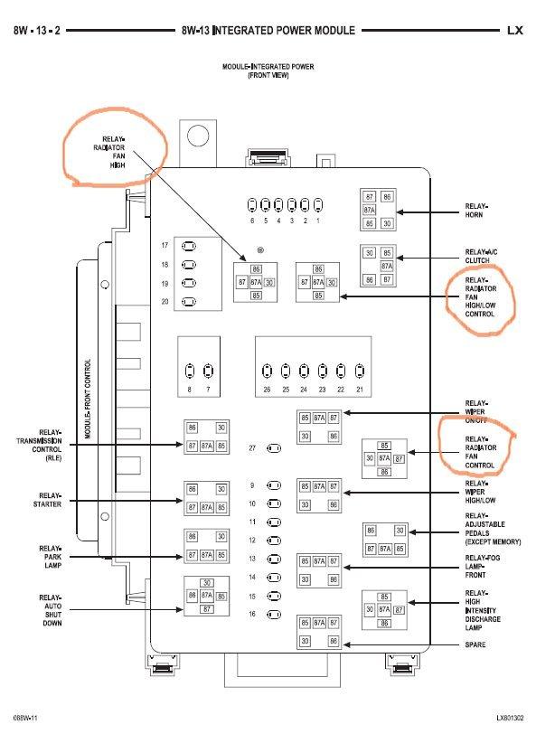 chrysler 300 touring fuse box diagram for 2006 2007 chrysler 300 cooling fan relay  chrysler 300c   srt8 forums  2007 chrysler 300 cooling fan relay