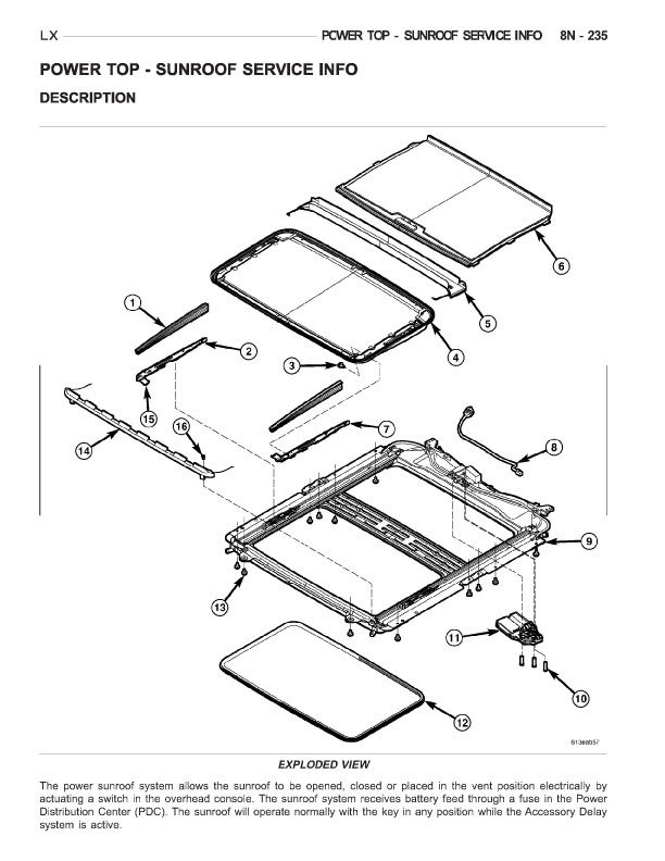 Sunroof Part Source Needed Chrysler 300c Srt8 S. Click For Larger Version Name Sunroofblowup Views 8568 Size 800. Chrysler. Chrysler 300c Console Parts Diagrams At Guidetoessay.com