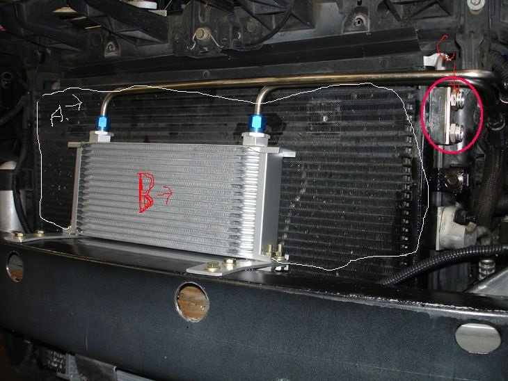 Transmission Amp Radiator Fluid Mixing Possible Solution