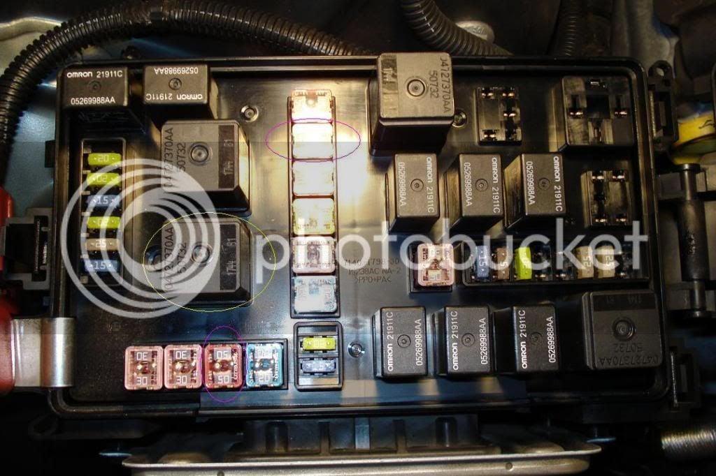 relays front fuse box hemi chrysler 300c srt8 forums. Black Bedroom Furniture Sets. Home Design Ideas