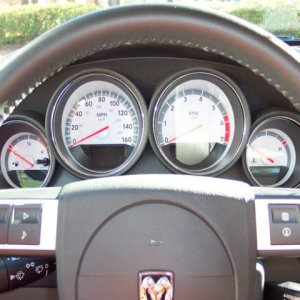 2008 Charger R/T instrument gages