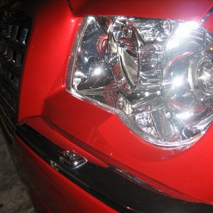 HID Headlamp with washers